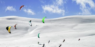 World snowkite contest