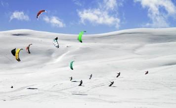 World snowkite contest